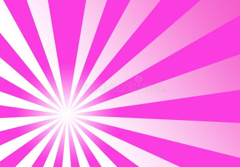Papier peint rose d'abrégé sur rayon de remous illustration stock