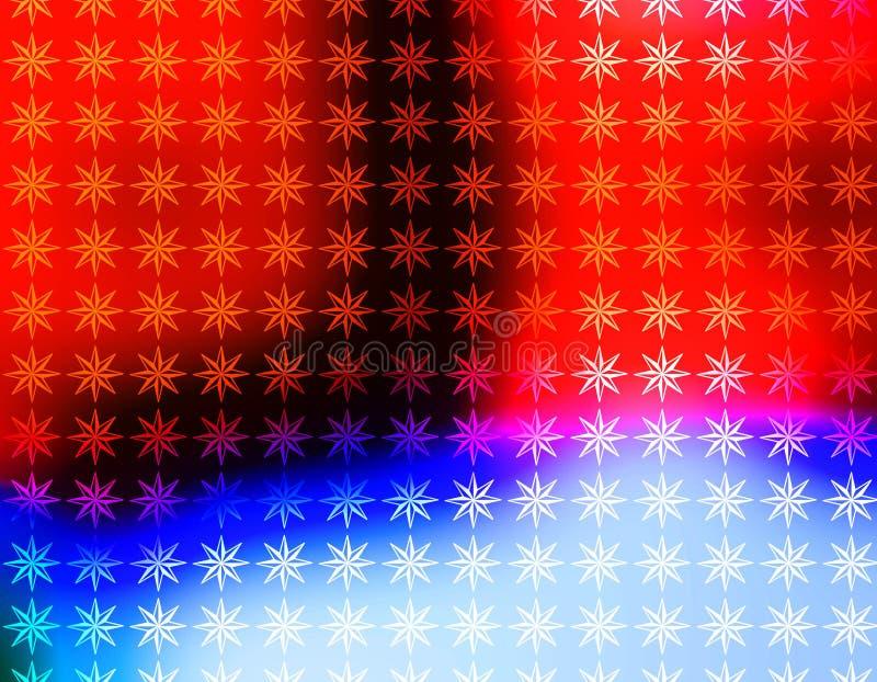 Papier peint rouge vif d'étoiles blanches et bleues illustration libre de droits
