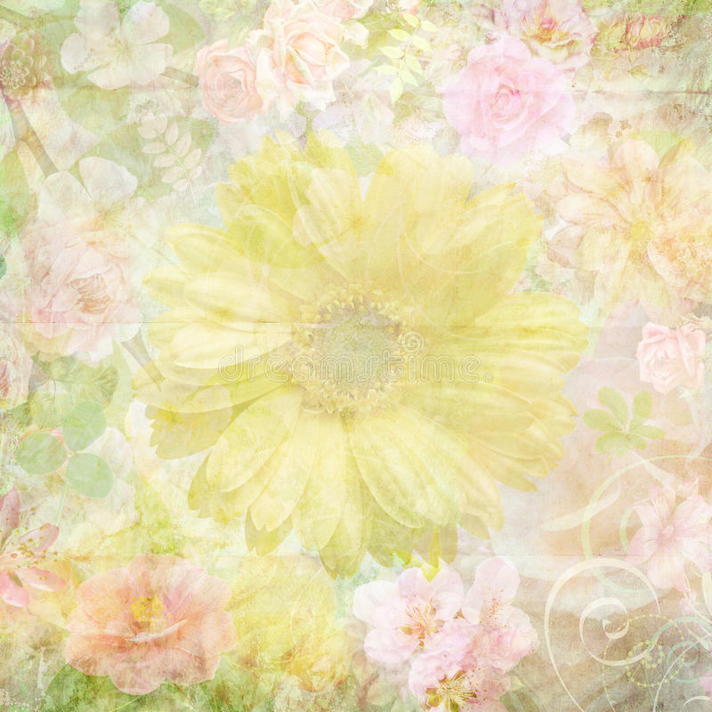 Papier peint sale coloré de fleur illustration stock