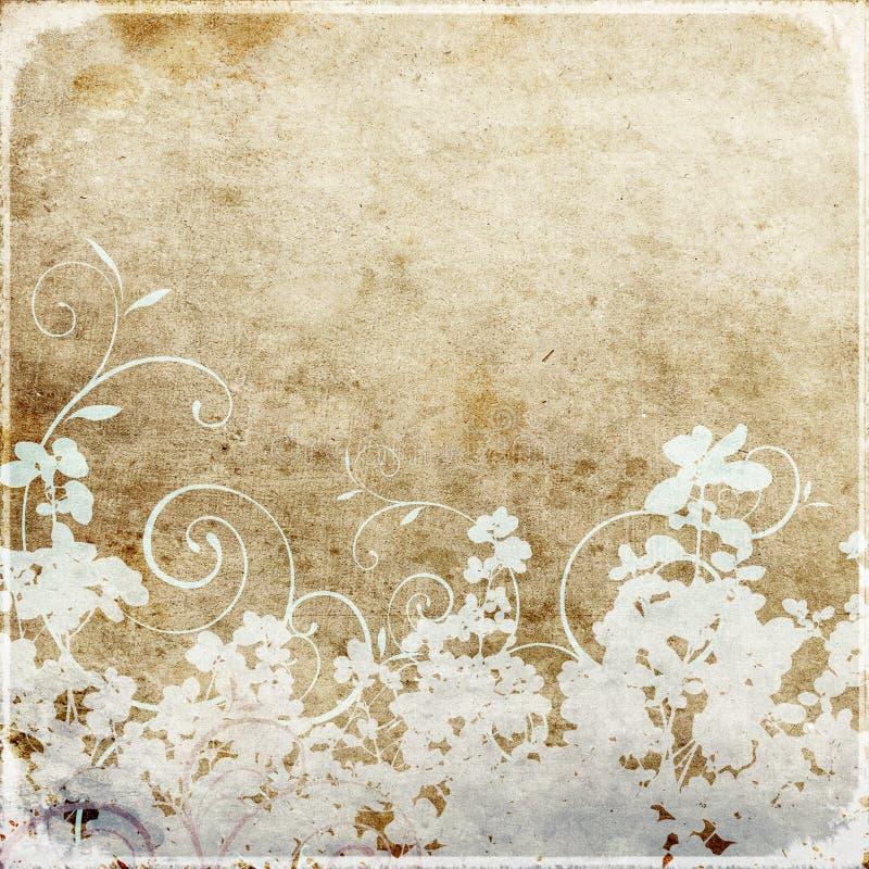 papier peint sale floral illustration de vecteur
