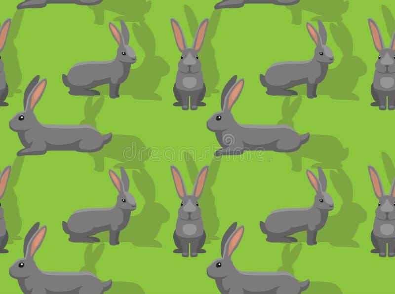 Papier peint sans couture de fond géant continental de bande dessinée de lapin illustration stock