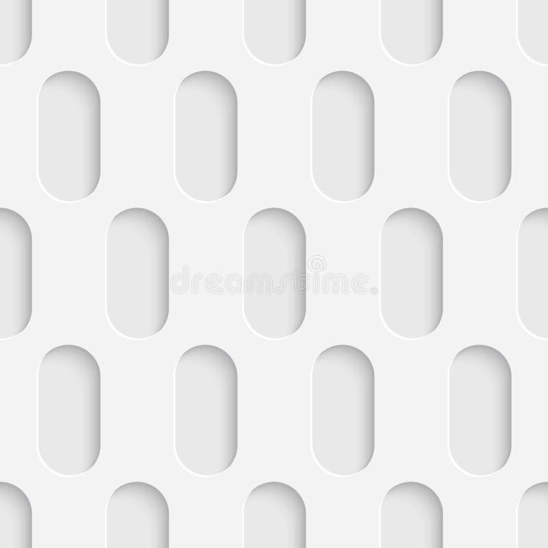 Papier peint sans couture de technologie Fond blanc d'ellipse illustration libre de droits