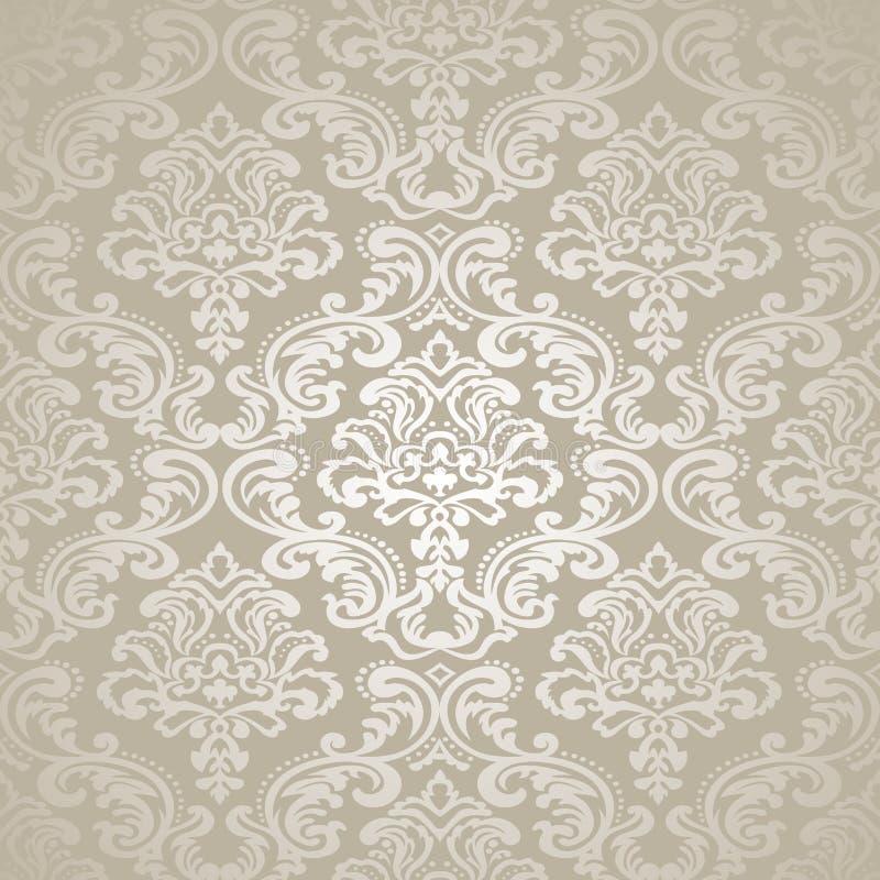 Papier peint sans couture du modèle Background.Damask. illustration libre de droits