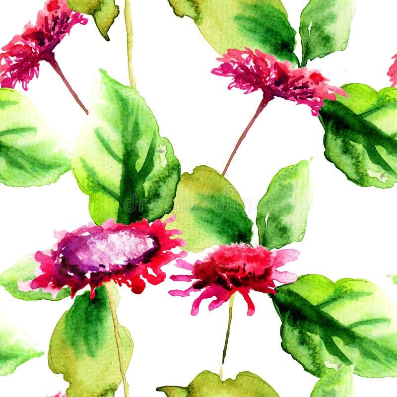 Papier peint sans couture original avec les fleurs sauvages illustration de vecteur