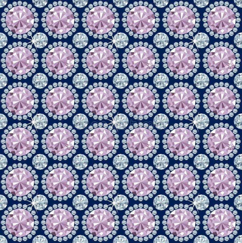 Papier peint sans joint de configuration/vecteur de diamant illustration libre de droits