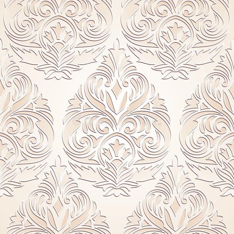 Papier peint sans joint de damassé illustration stock
