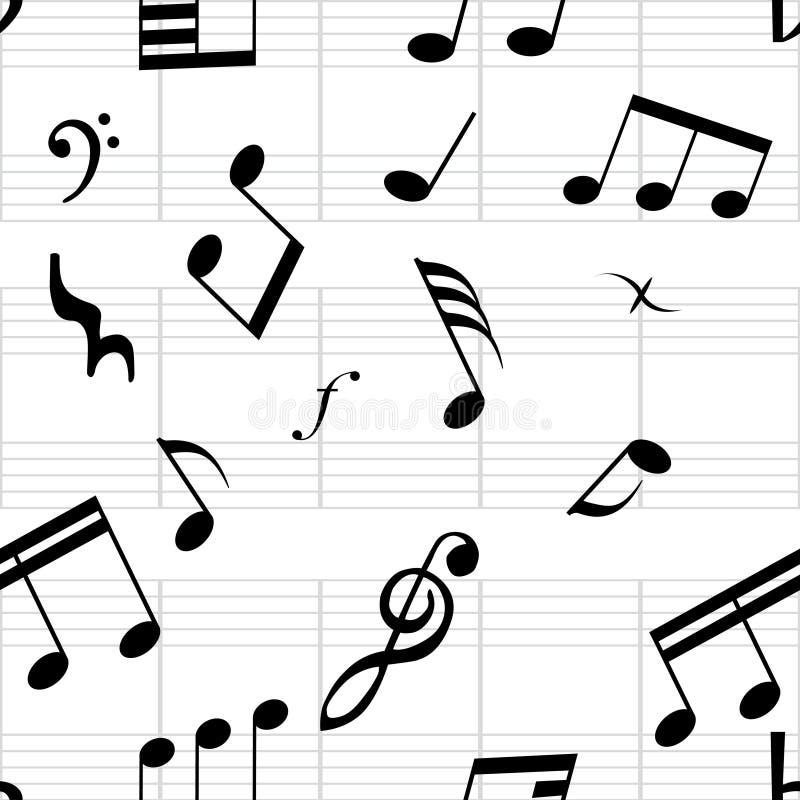 Papier peint sans joint de musique illustration libre de droits