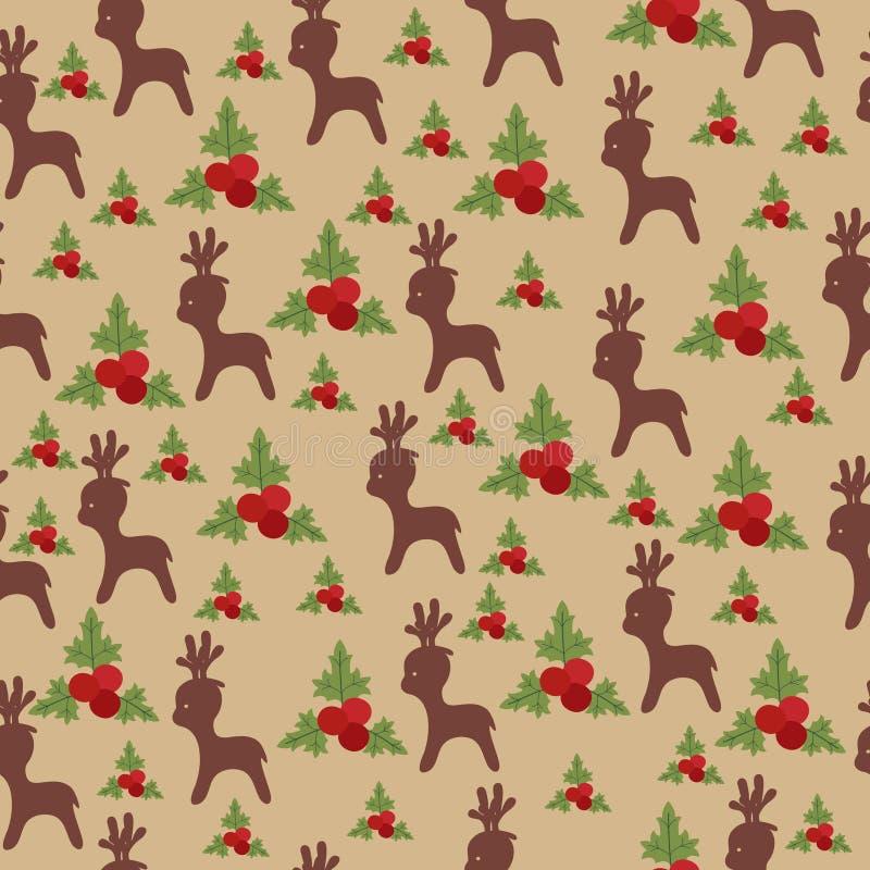 Papier peint sans joint de Noël illustration de vecteur
