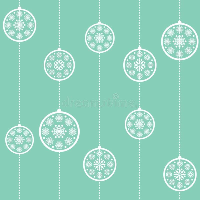papier peint sans joint de Noël bleu de babioles illustration libre de droits