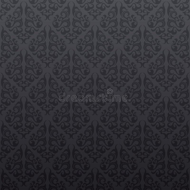 papier peint sans joint gris de vigne illustration stock