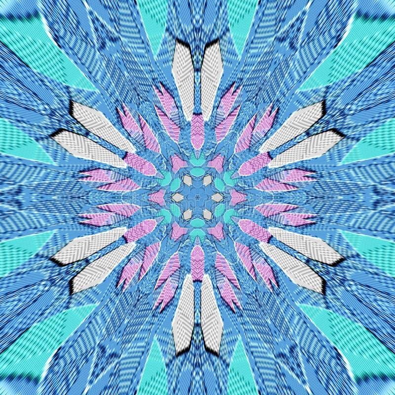 Papier peint texturisé abstrait floral bleu-clair et rose merveilleux, utile pour le tissu, imprimant le monde de tissus, de déco illustration libre de droits