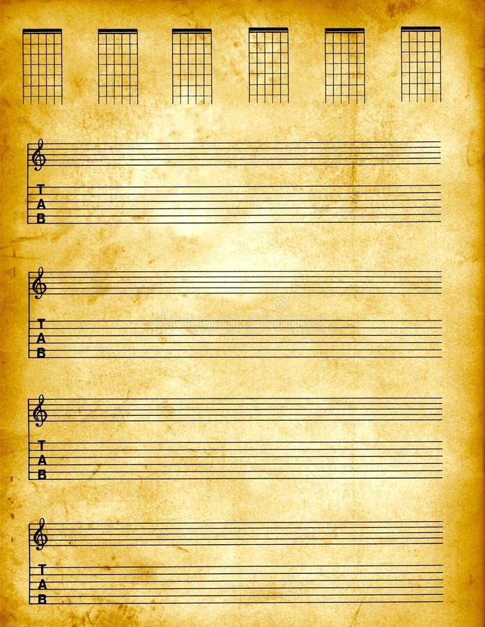 papier pergaminowy tablature ilustracja wektor