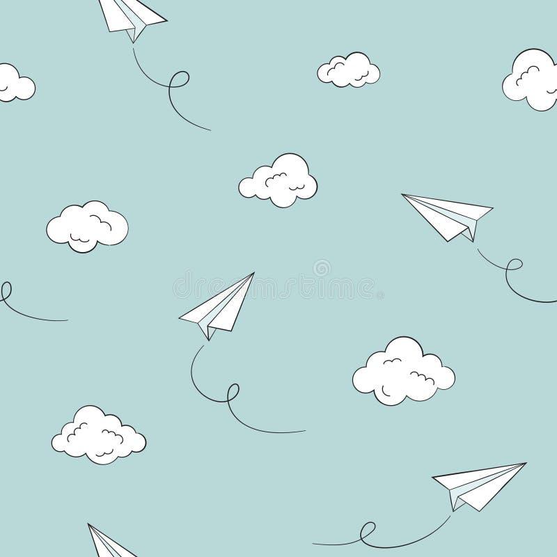 Papier planiert nahtlosen Hintergrund lizenzfreie abbildung