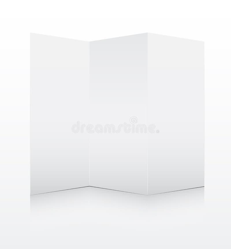 Papier plié blanc blanc illustration de vecteur