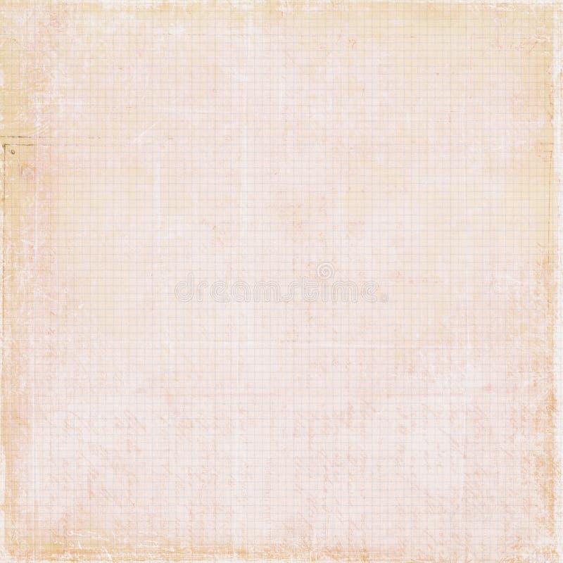 Papier pour livres de comptabilité antique sale de cru photo stock