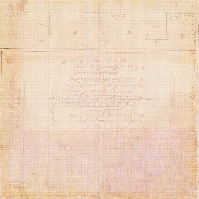 Papier pour livres de comptabilité antique sale de cru photos libres de droits