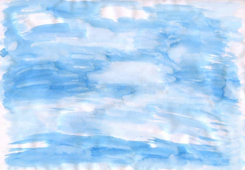 papier przez niebo niebieskie ilustracji