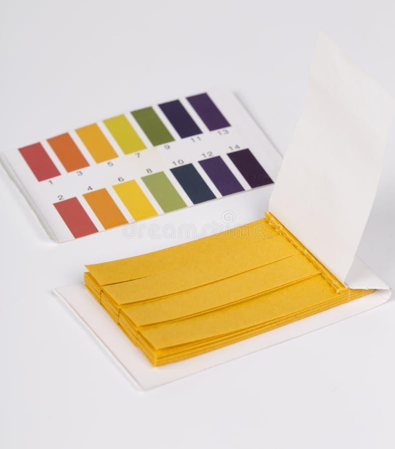 Papier réactif du tournesol pH image stock