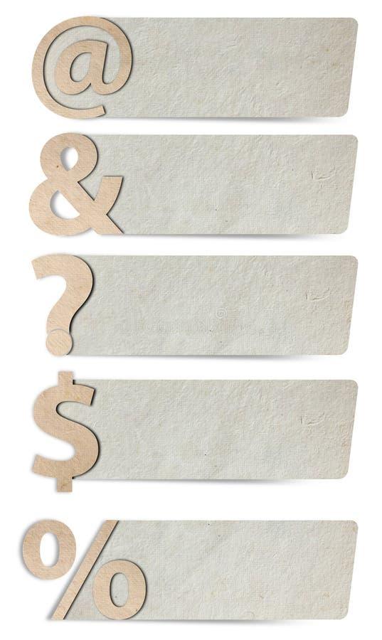 Papier réutilisé de symboles de lettres d'alphabet photo stock