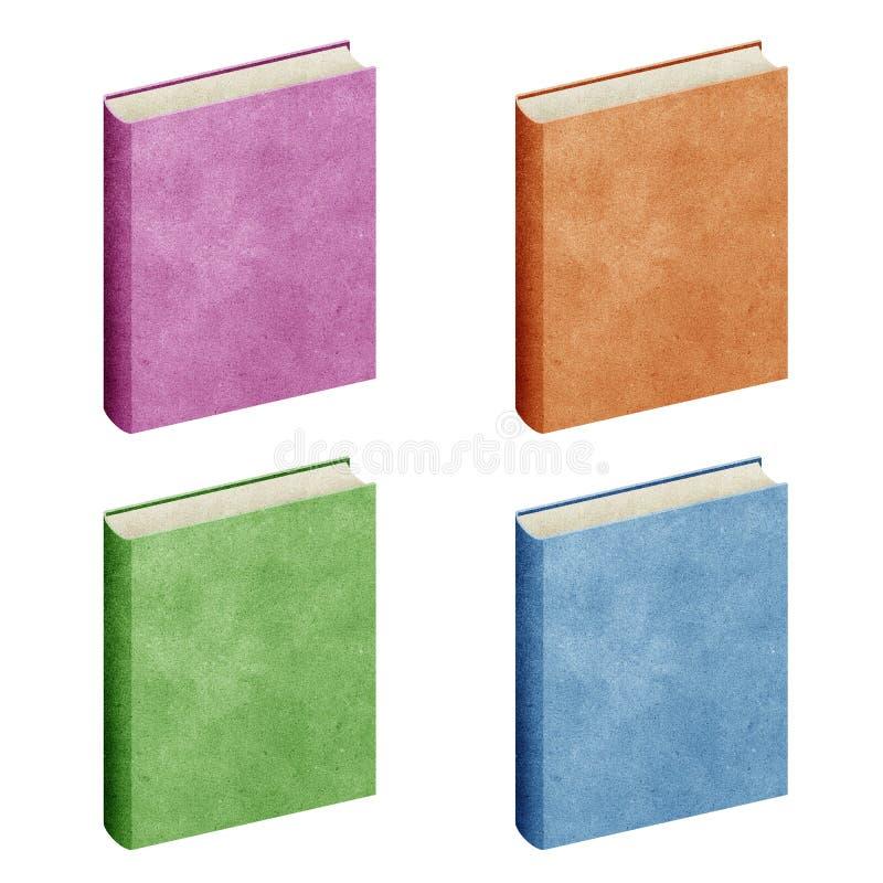 Papier réutilisé par livre blanc d'isolement illustration libre de droits