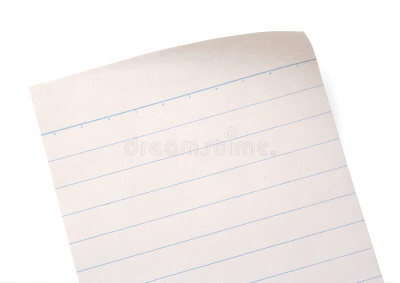 Papier rayé de cahier photo libre de droits
