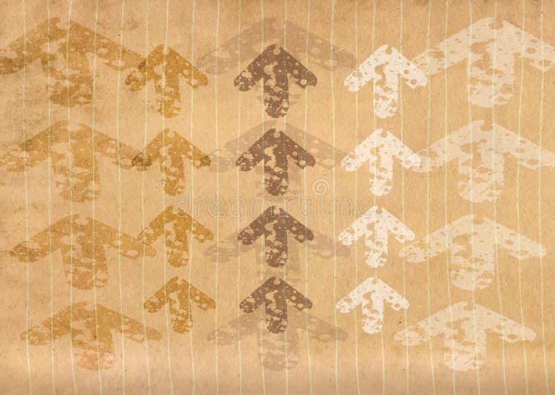 Papier rayé par grunge avec des flèches illustration de vecteur