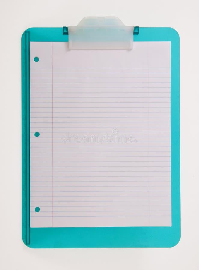 Papier rayé sur la planchette photo stock