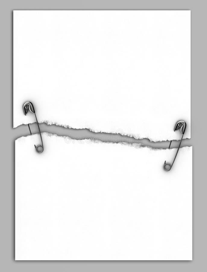 papier ripped white ilustracja wektor