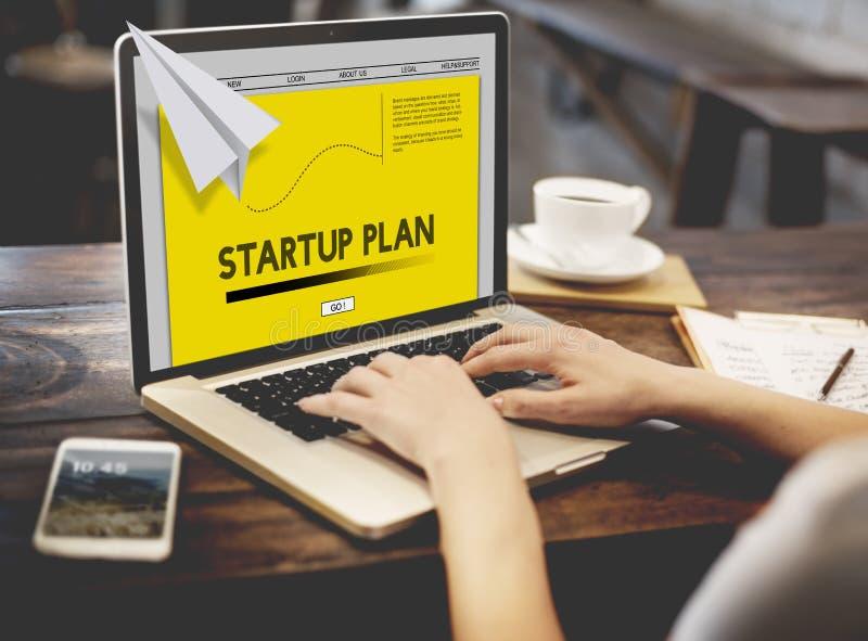Papier Rocket Startup Business Concept photos stock
