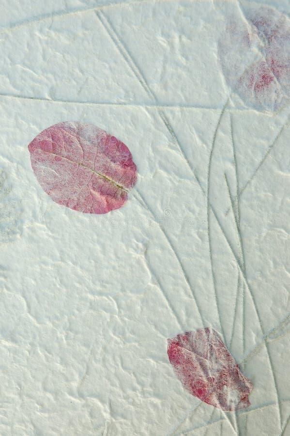 Papier rouge fabriqué à la main de lame images libres de droits