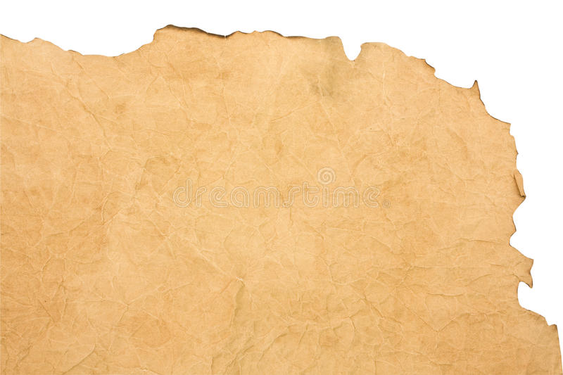 Papier roussi photo stock