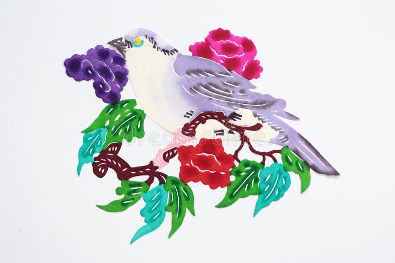 Papier-schneiden Sie vom Vogel lizenzfreie abbildung
