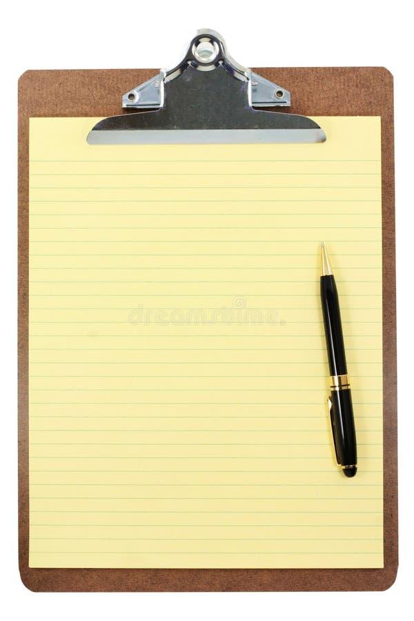 papier schowka żółty obrazy royalty free