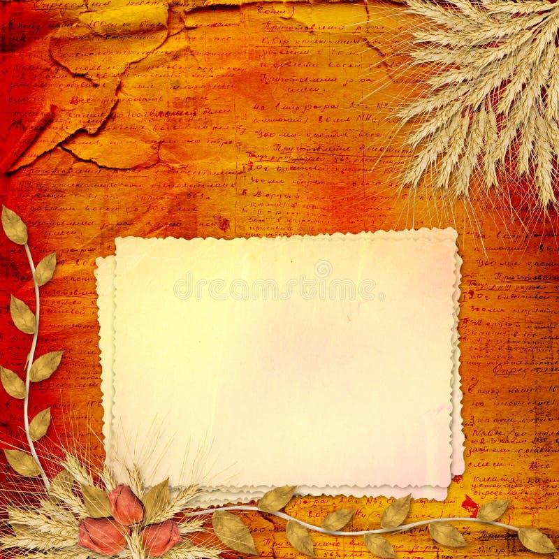 Papier in scrapbooking Art mit Bündel von stieg stock abbildung