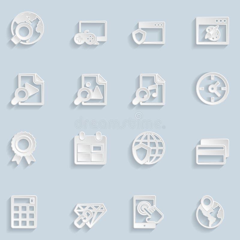 Papier Seo Icons Vol 3 illustration stock