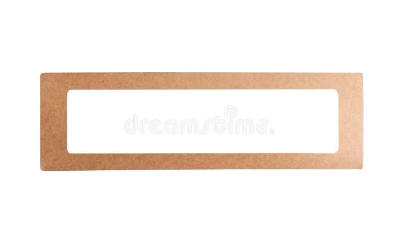 Papier siarczanowy, tekturowy, tekturowy, izolowany na białym tle obraz stock