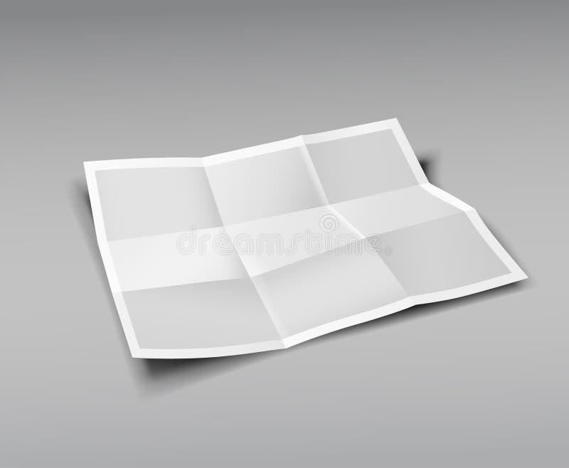 Papier Składający, dziewięć fałd dla biznesu ilustracja wektor