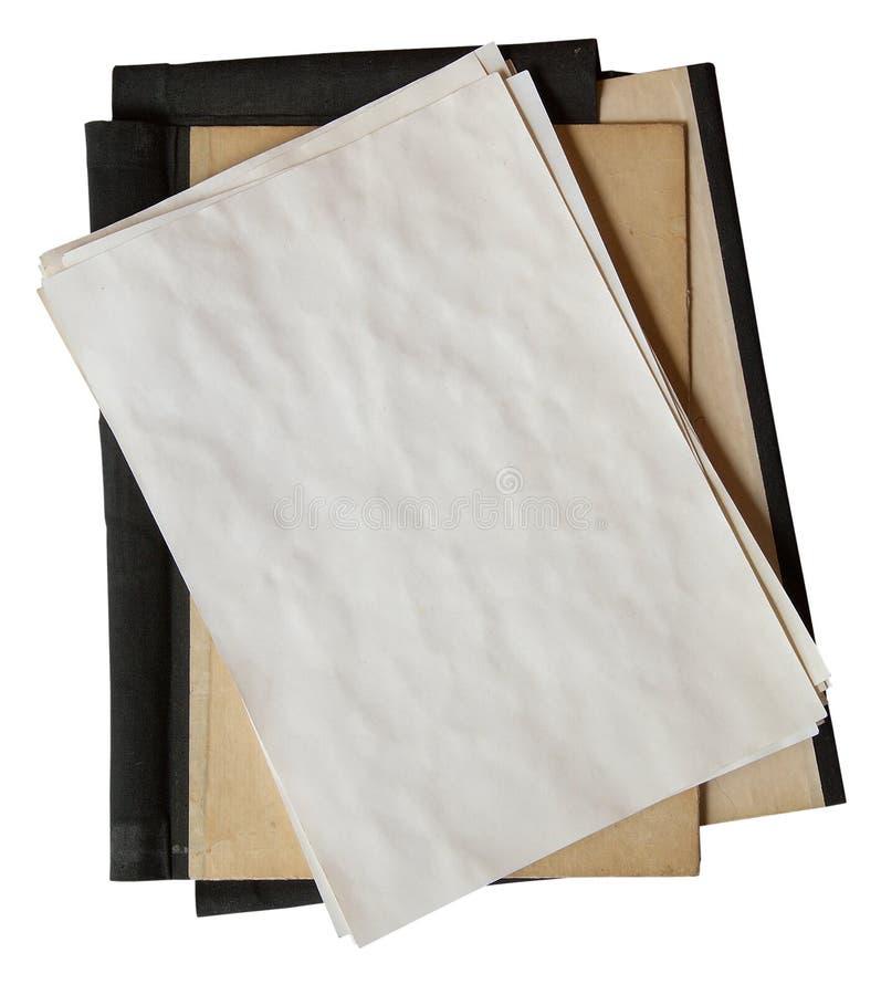 papier skoroszytowa stara sterta zdjęcia stock