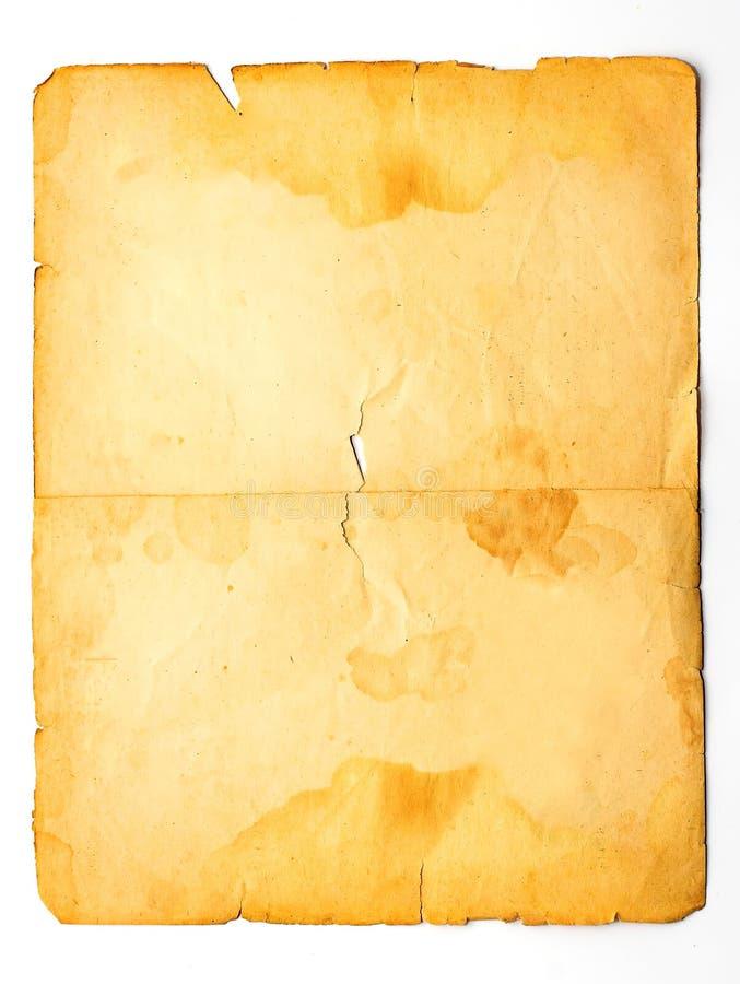 Papier souillé par cru images stock