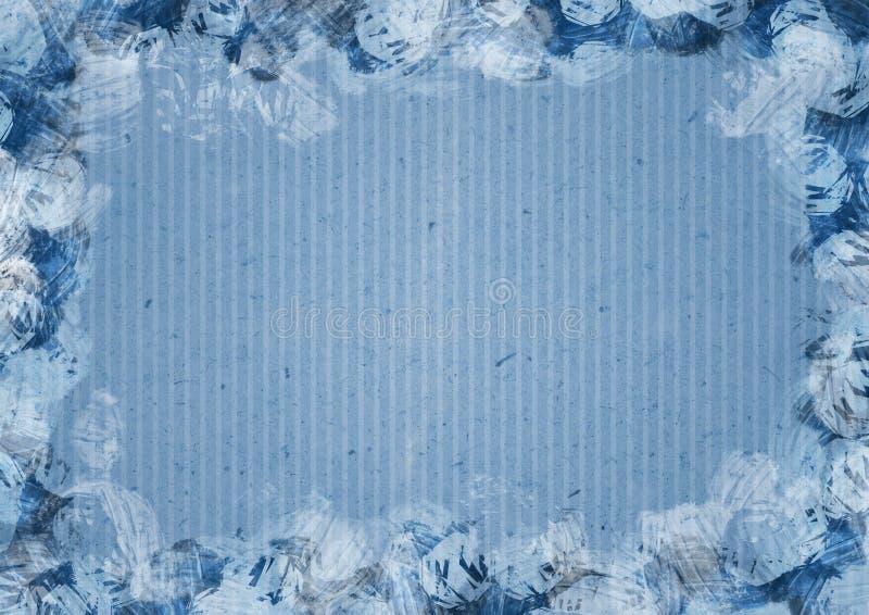 Papier streift Hintergrund in gemaltem Rahmen lizenzfreie abbildung