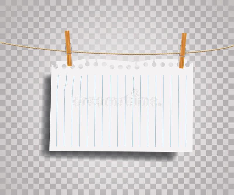Papier sur la corde illustration libre de droits