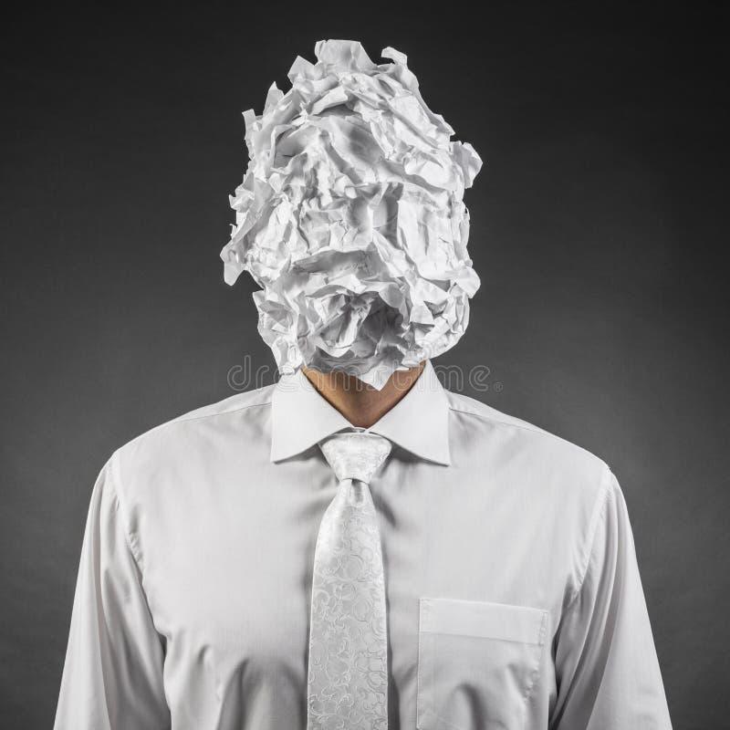 Papier sur la tête image libre de droits