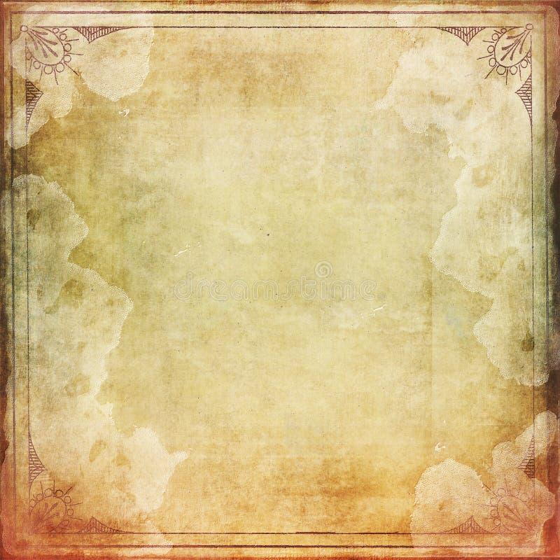 Papier taché de vintage avec le cadre images libres de droits