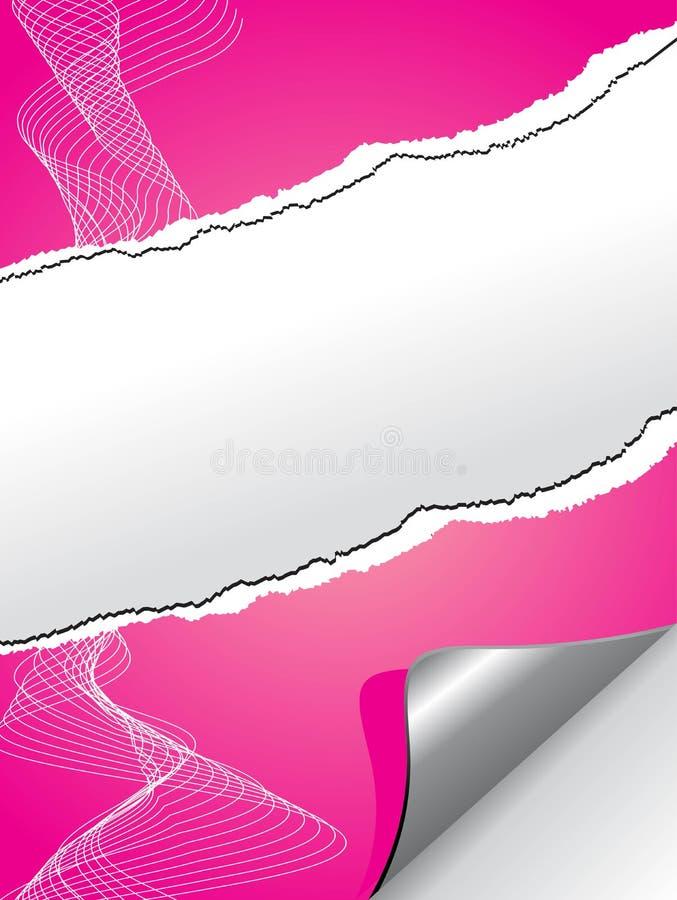 Papier très réaliste de rose de larme illustration libre de droits