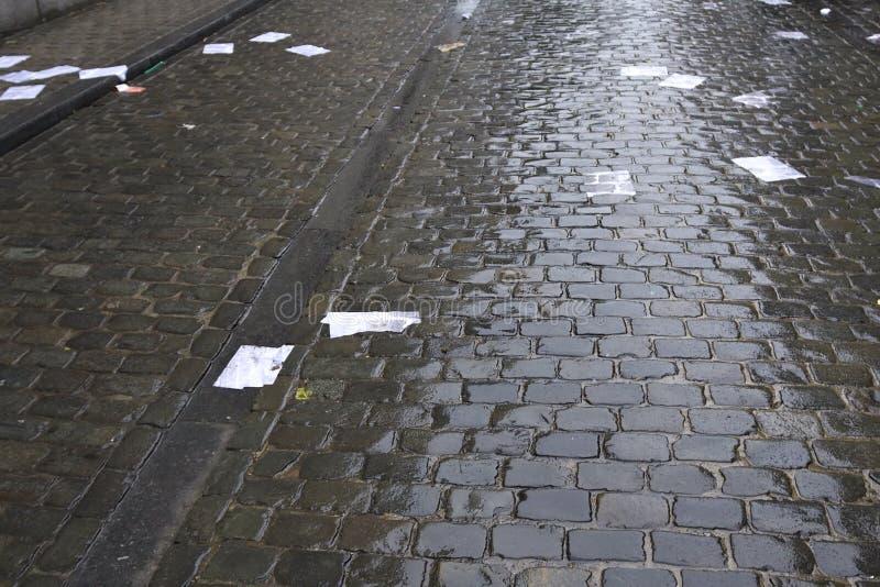 papier ulicę zdjęcia stock