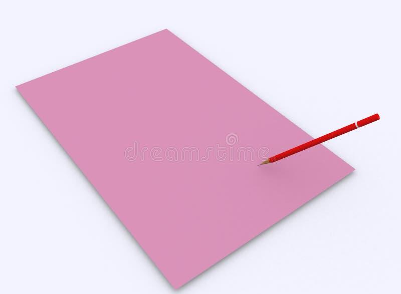 Papier und Bleistift lizenzfreie abbildung