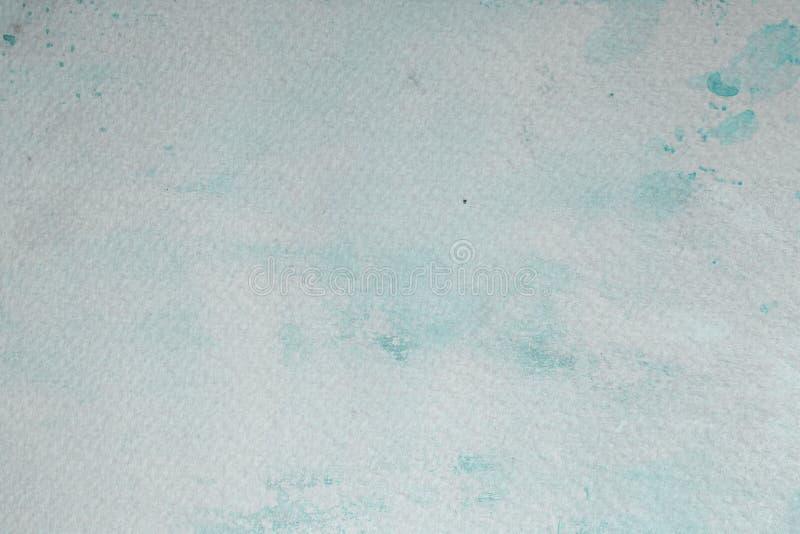 Papier vide bleu souillé d'aquarelle photo libre de droits