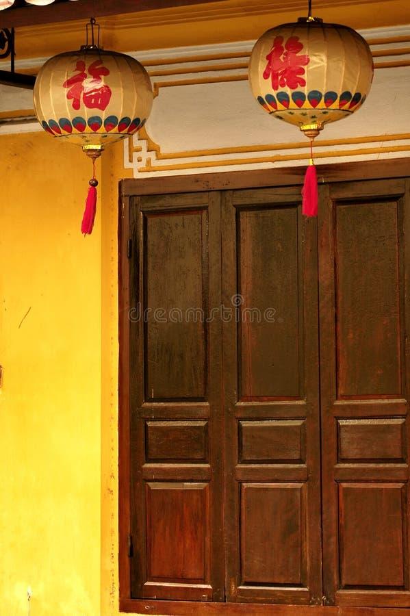 papier Vietnam de lanterne de hoi images libres de droits
