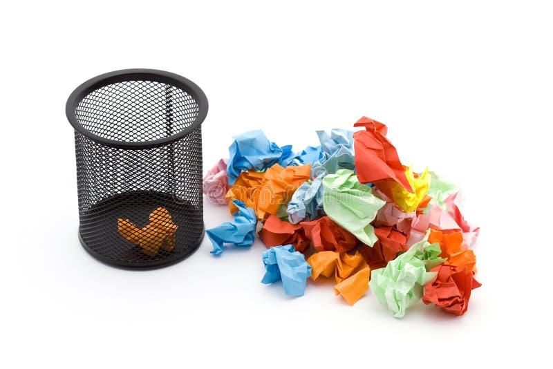 Papierabfall lizenzfreies stockfoto