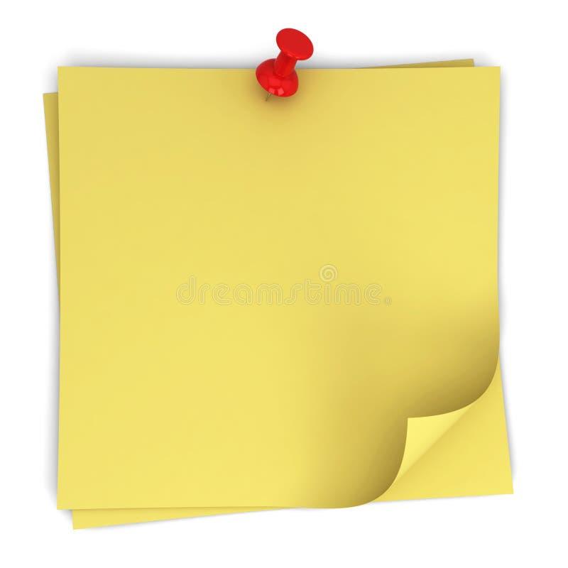 Papieranmerkungen lizenzfreie abbildung